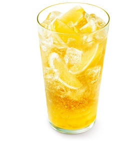 モスバーガー「まるごと!レモンのジンジャーエール(はっさく果汁0.5%使用)」