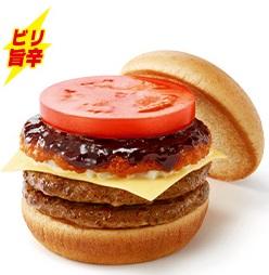 麻辣)ダブルマーラーモスチーズバーガー2019年2月7日