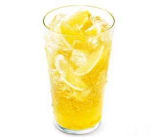 モスバーガー「まるごと!レモンのジンジャーエールwith甘夏ソース<熊本県産甘夏果汁0.5%使用>」2021年5月