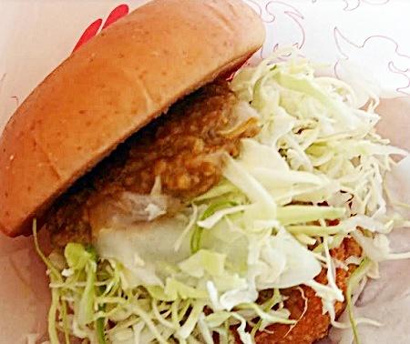 モス「冷製カレーチキンバーガー」2019年5月23日実物